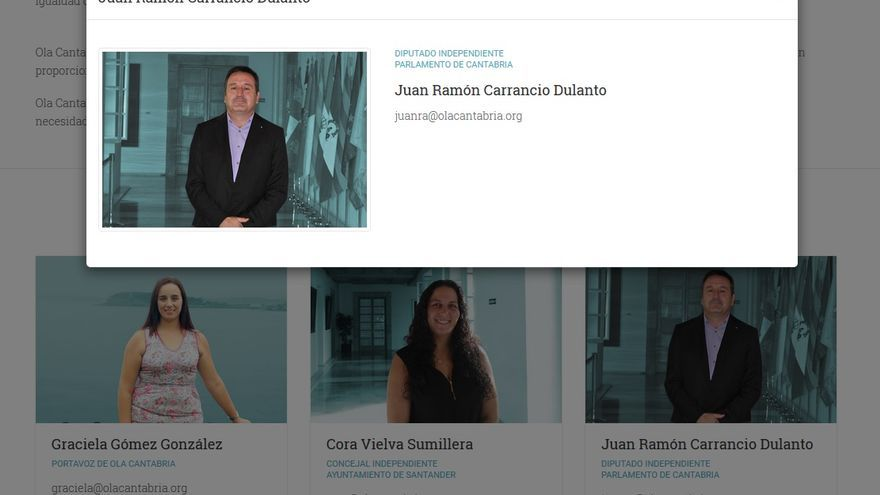 "Juan Ramón Carrancio, el ""diputado independente"" de Ola Cantabria."