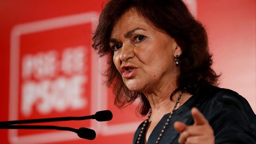Carmen Calvo: La ministra de Justicia no va a dimitir