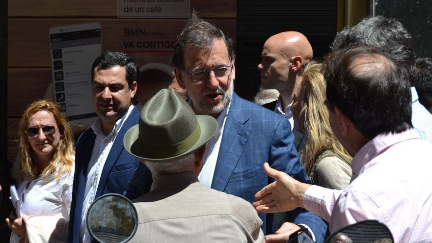 Mariano Rajoy, el sábado, en Málaga | Néstor Cenizo