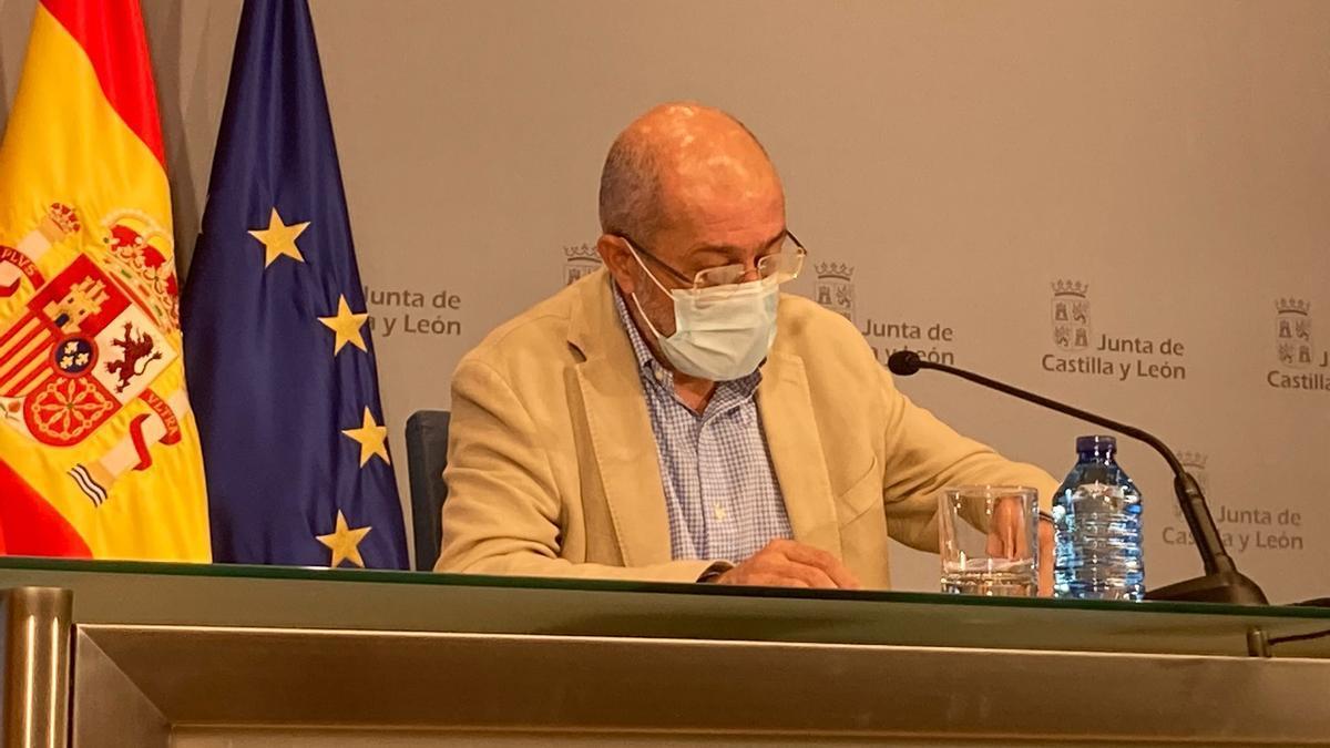El vicepresidente de Castilla y León este jueves en Valladolid.
