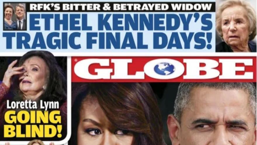 Portada del Globe con la nota sobre la supuesta separación de los Obama.