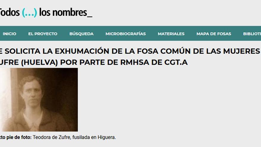 El grupo de trabajo RMHSA de CGT solicitó la exhumación de la fosa de Higuera.