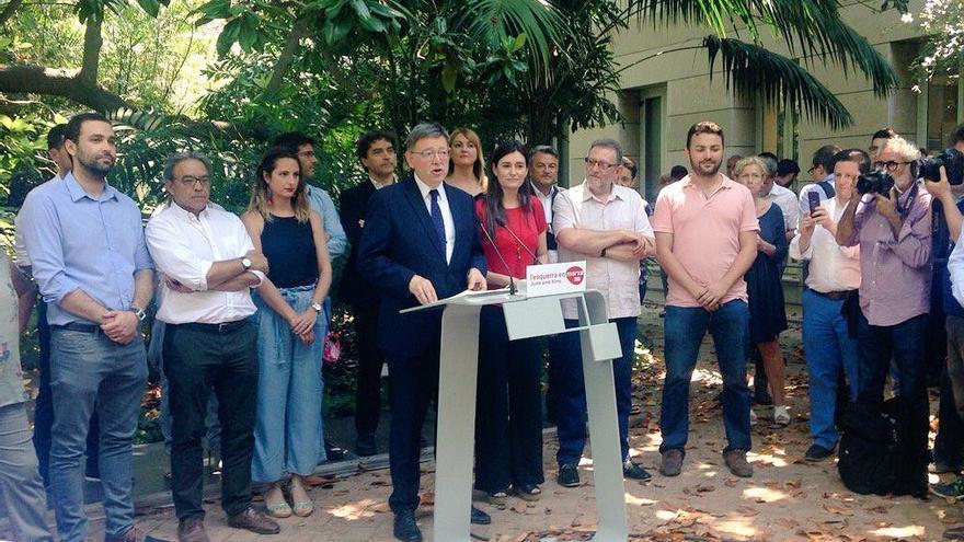Ximo Puig presenta su candidatura a la secretaría general del PSPV en el Jardí Botànic