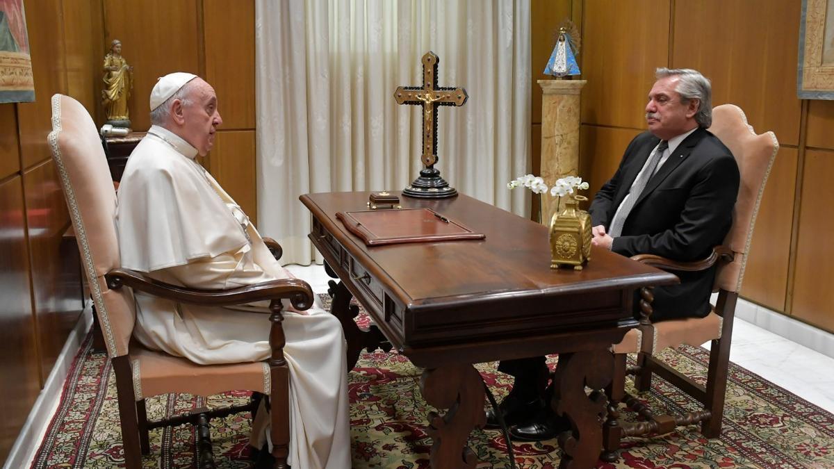 El papa Francisco recibió a Alberto Fernández