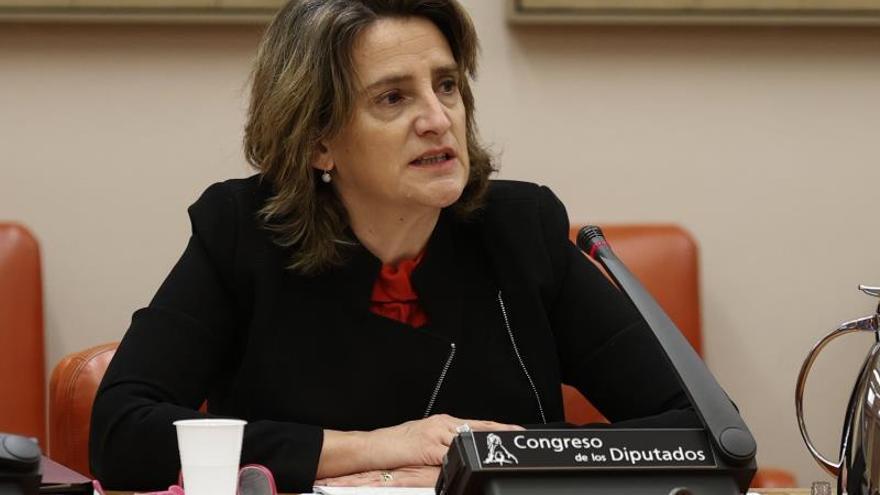 La vicepresidenta cuarta del Gobierno y ministra para la Transición Ecológica y el Reto Demográfico, Teresa Ribera, en el Congreso de los Diputados.