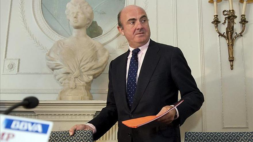 El ministro de Economía, Luis de Guindos. EFE