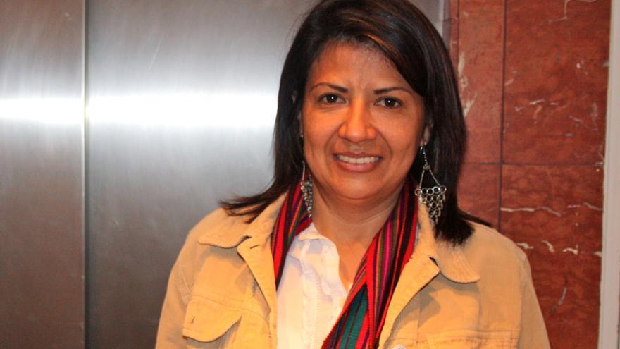 La activista guatemalteca Yolanda Oquelí (Foto: Olga Rodríguez)