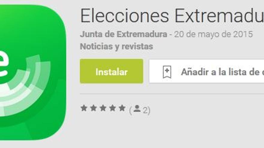 app elecciones extremadura