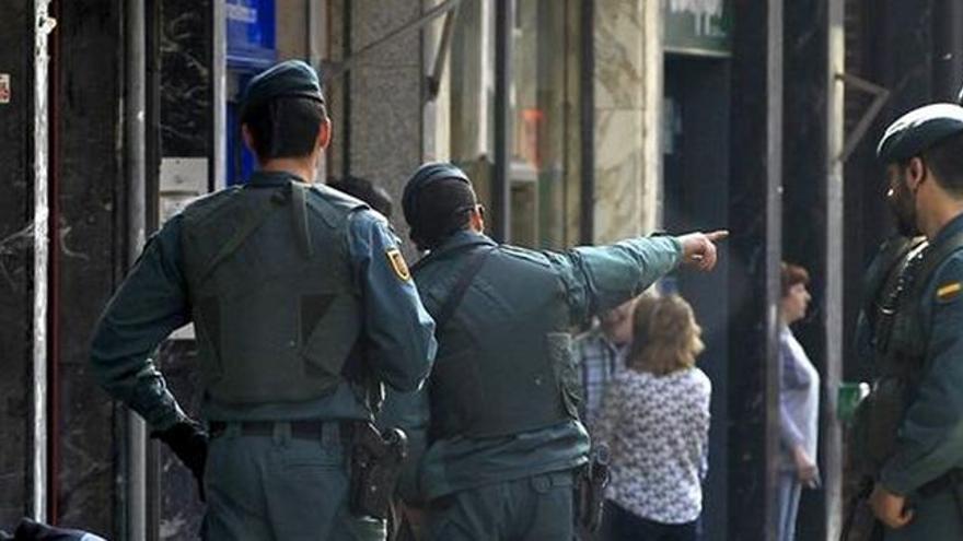 Actuación de la Guardia Civil, en una fotografía de archivo.