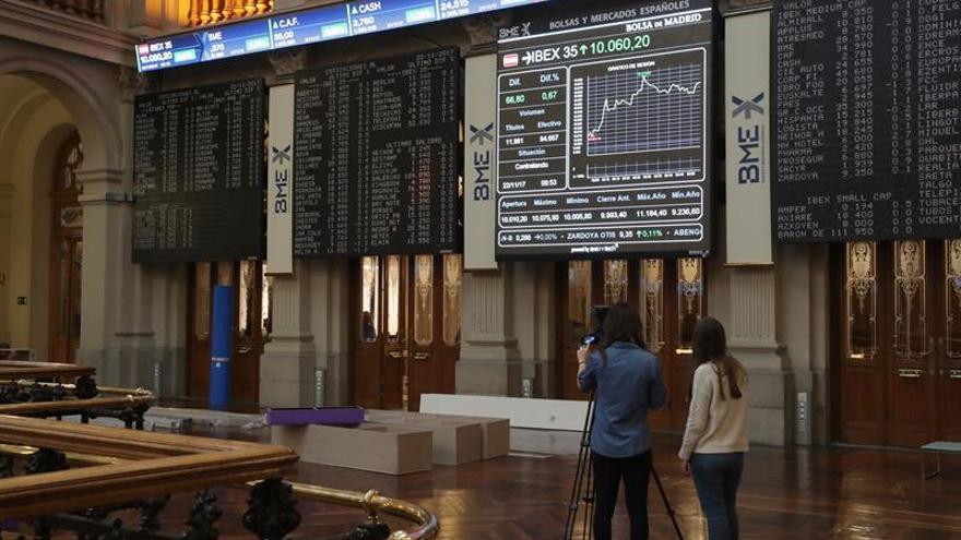 La Bolsa española vuelve a perder los 10.000 puntos y cae el 0,19%