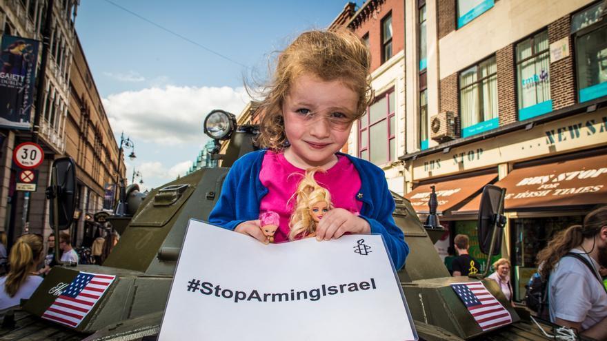 Protesta de Amnistía Internacional en Irlanda ante los ataques de Israel en Gaza. Copy: Amnistía Internacional