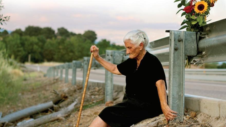 María Martín, vecina de Buenaventura (Toledo), ya fallecida, es una de las protagonistas del documental