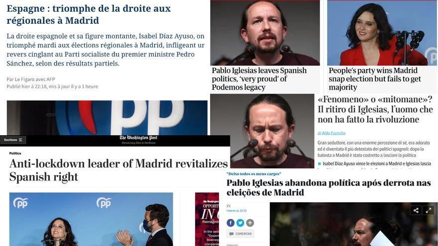 La prensa internacional cubre las elecciones de Madrid