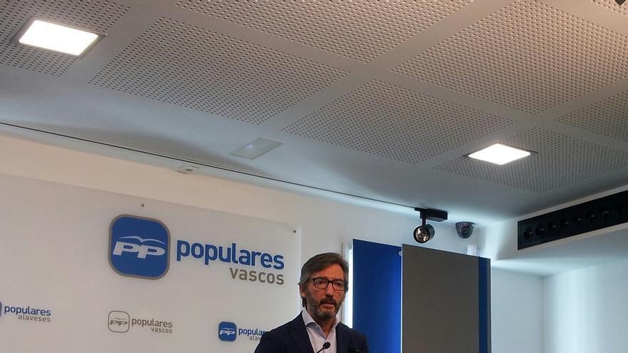 """El PP dice que es el único que puede frenar a Podemos en Álava"""" y apela al voto de Ciudadanos"""