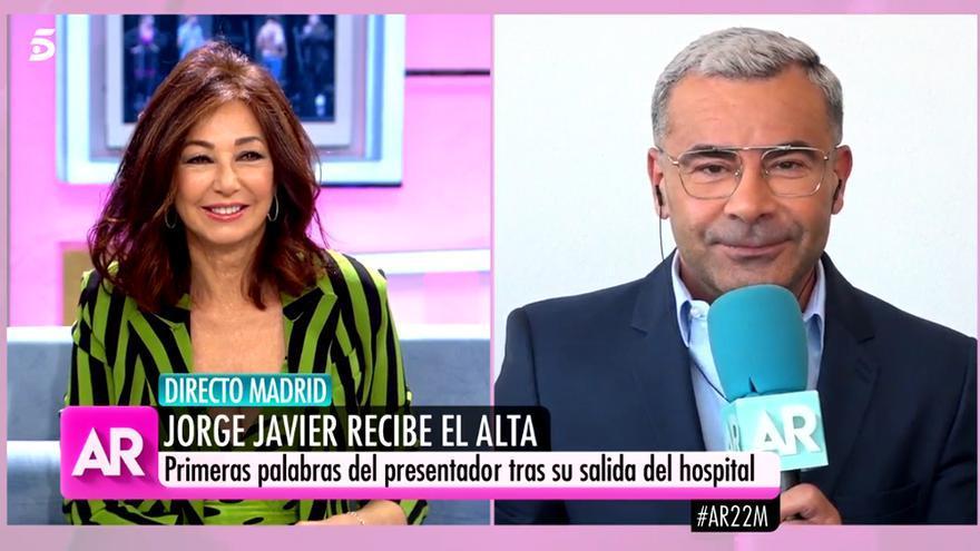 Jorge Javier Vázquez reaparece con Ana Rosa tras salir del hospital con pulla para Vox