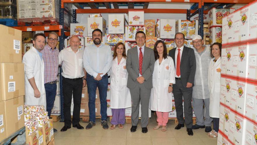 Dos momentos de la visita a las instalaciones. Fotos: Álvaro Díaz Villamil / Ayuntamiento de Azuqueca