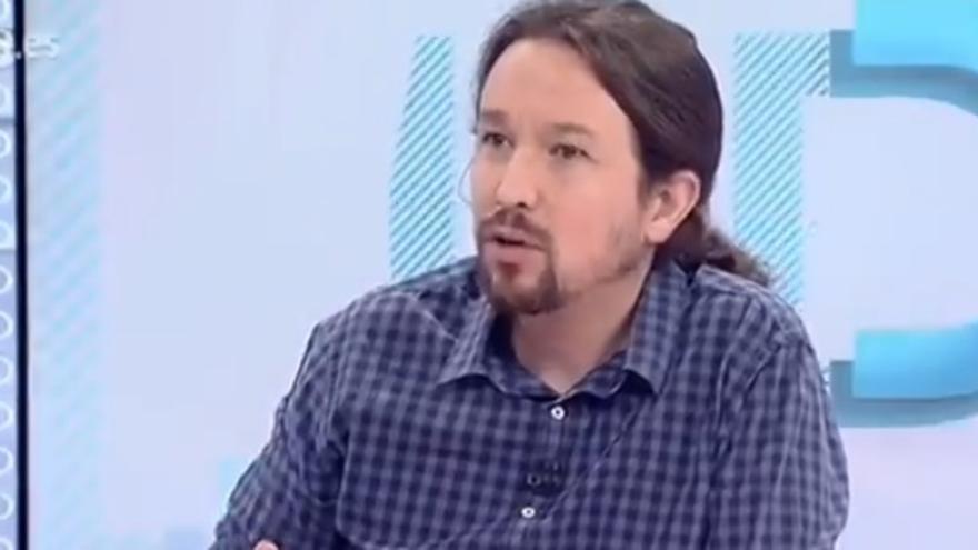 Iglesias, durante una entrevista en TVE este martes