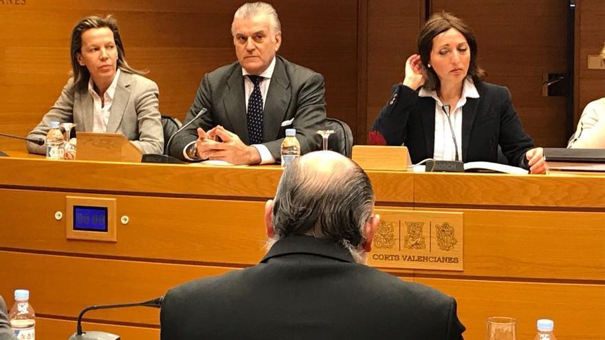 El extesorero del PP Luis Bárcenas participa en la comisión de investigación de Feria Valencia en las Corts Valencianes