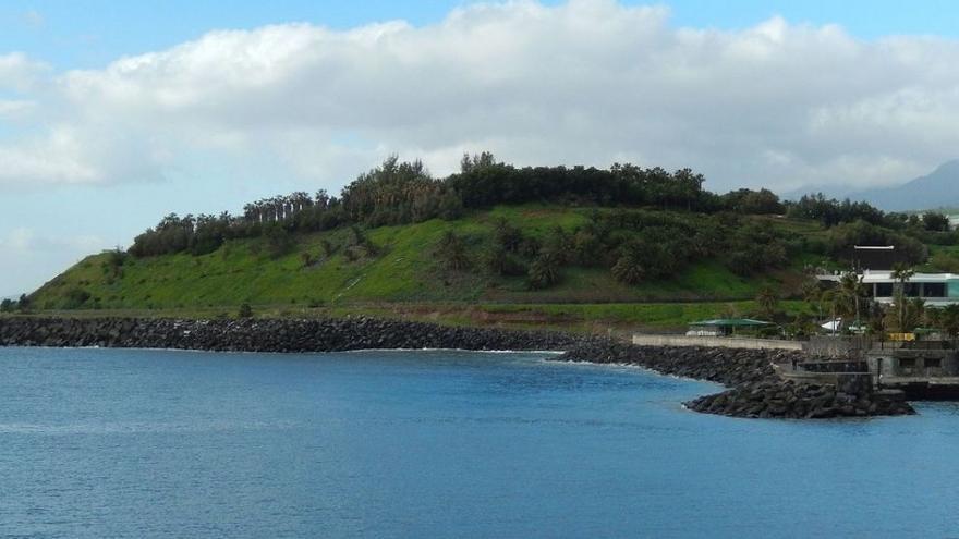 Imagen de archivo de los prismas de litoral en la zona del Palmetum, en la capital tinerfeña