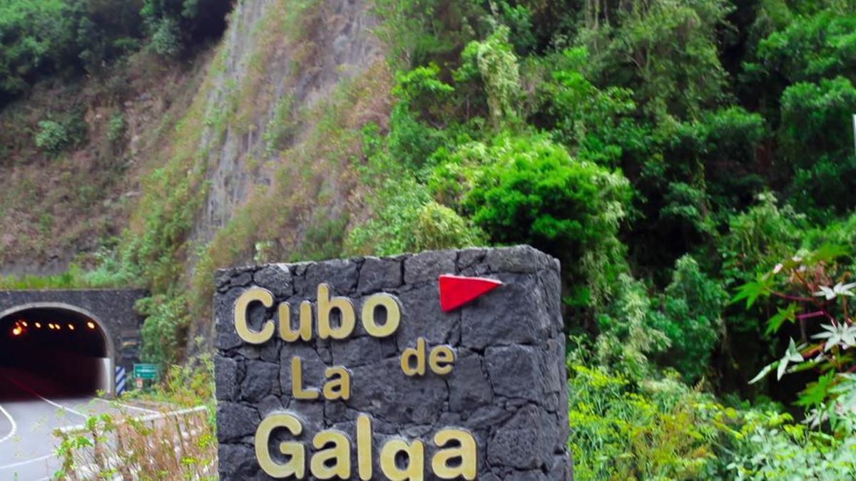 En la imagen, entrada al Cubo de La Galga. Foto: Caminando La Palma