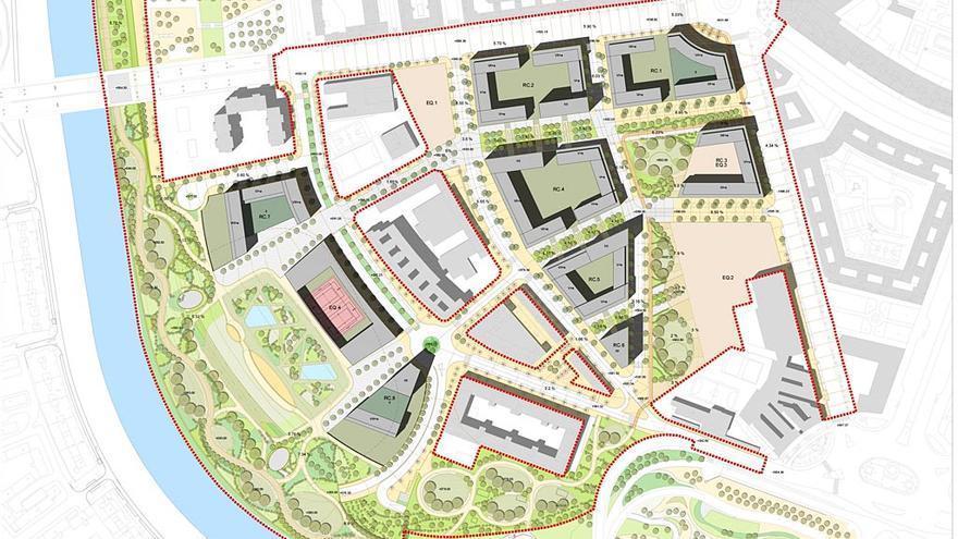 Plano del nuevo ámbito de la operación Mahou Calderón