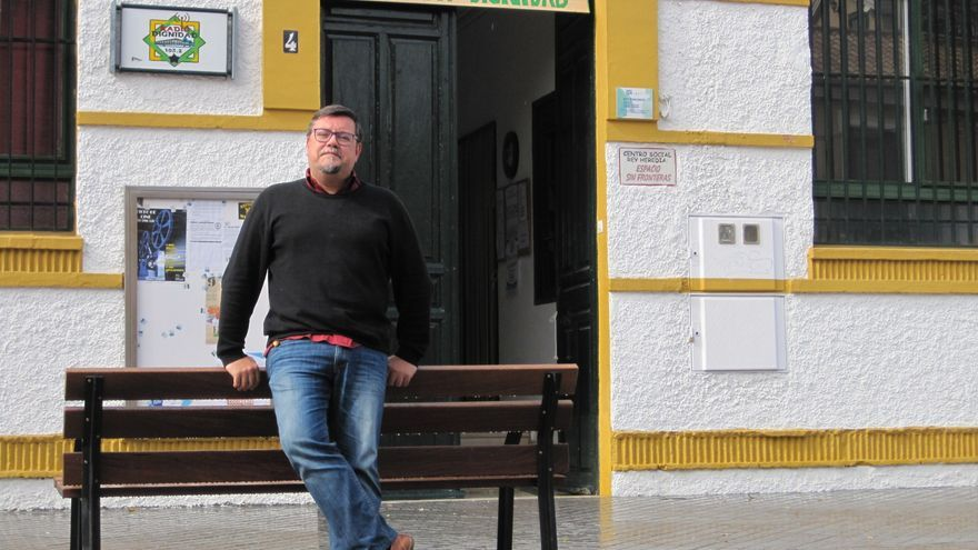 Rafael Juan, uno de los impulsores del centro social Rey Heredia.