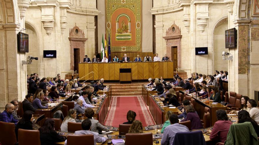 Pleno del Parlamento de Andalucía en noviembre de 2016.