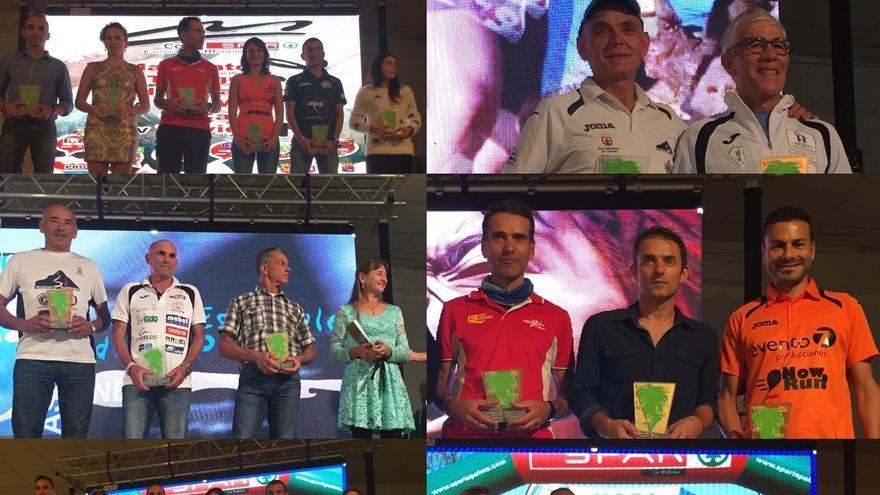 Imagen de los ganadores en las diferentes modalidades de  la 'V Copa Spar Pro NEP 2016'.