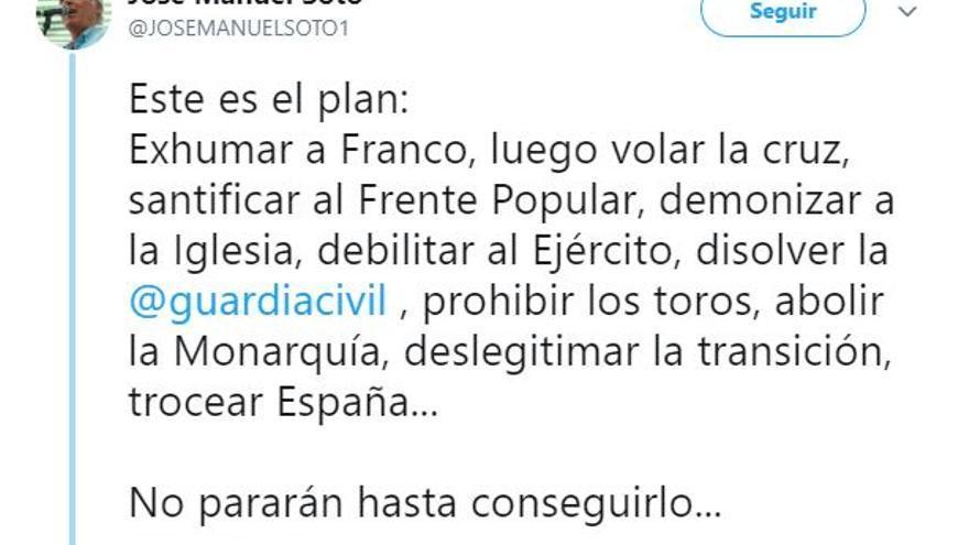 Tuit de José Manuel Soto