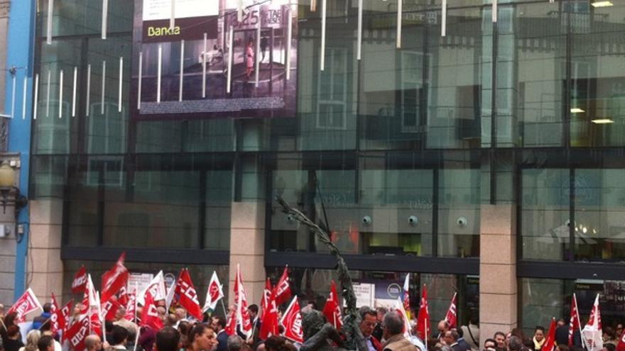 Protesta de empleados de Bankia en LPGC #5