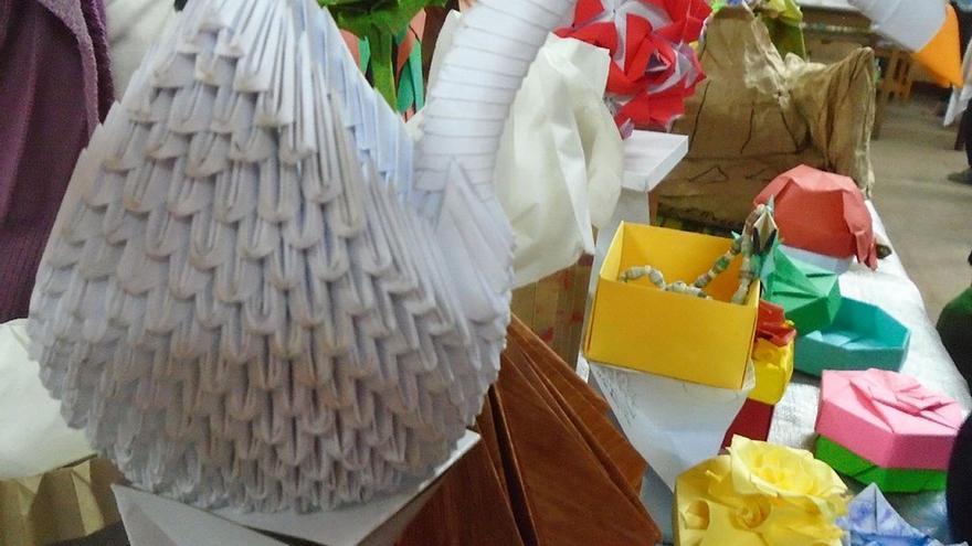 Cisne de origami. (Fernando del Rosal).