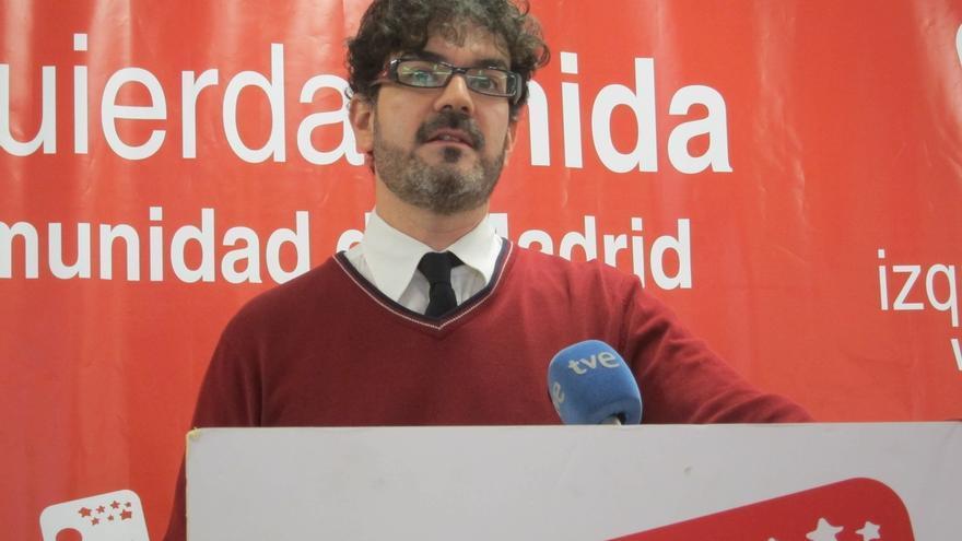 El líder de IU Madrid, Eddy Sánchez