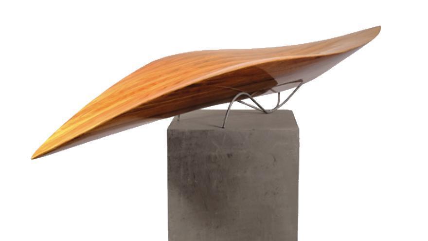Una de las piezas montadas en la exposición del instituto de La Laguna