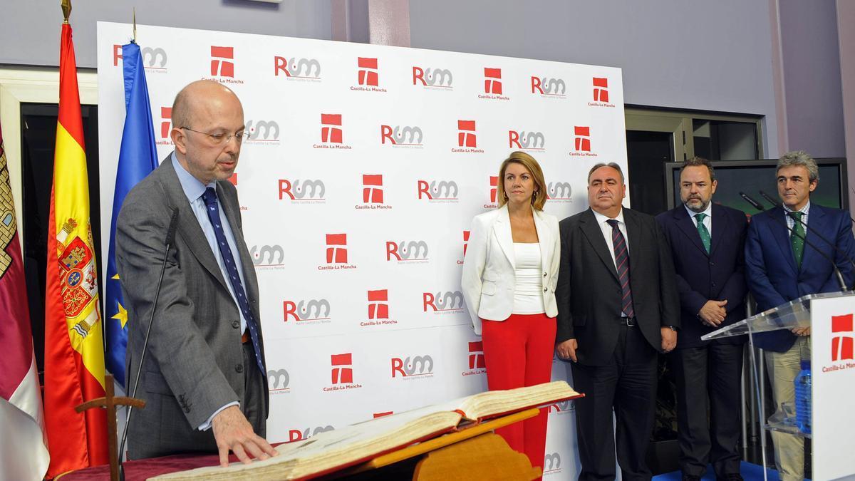 Toma de posesión de Nacho Villa en Castilla-La Mancha Televisión