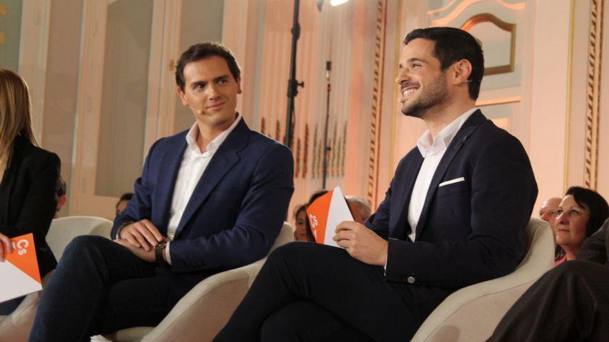 Albert Rivera y Pablo Sarrión, albaceteño y candidato por Madrid
