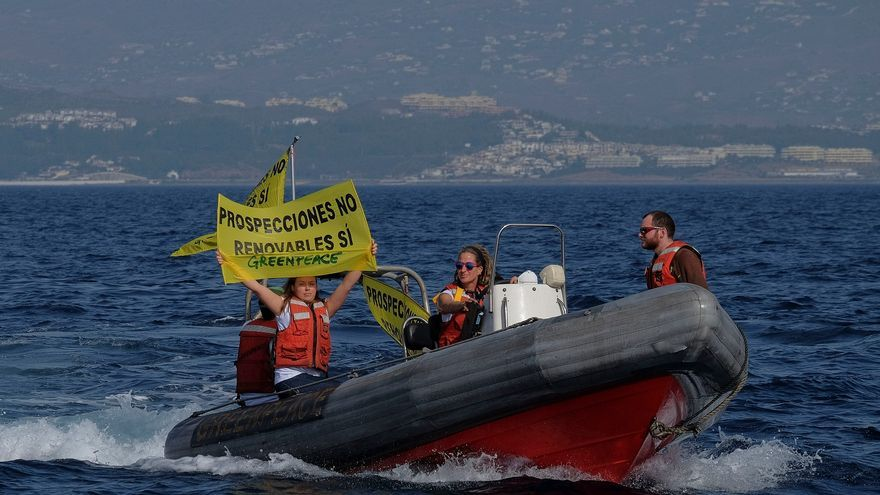 Protesta contra las prospecciones en la Costa del Sol/ Foto: N. Cenizo