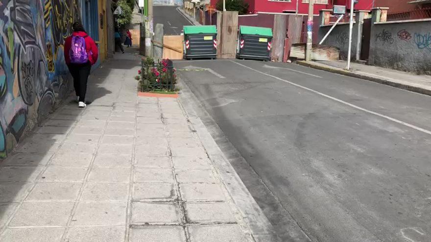 La Paz, de día, semejaba una ciudad sitiada por una revuelta y unos asaltos masivos a cuyos barrios nunca terminaron de llegar. ANF