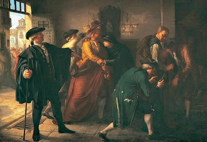 Un episodio del motín de Esquilache, una pintura de historia de José Martí y Monsó | http://es.wikipedia.org