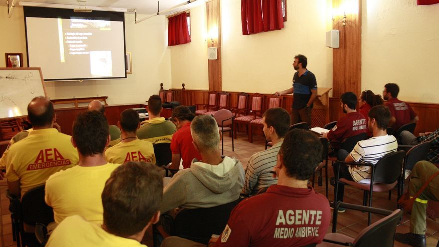 En la imagen, la acción formativa celebrada en Villa de Mazo.