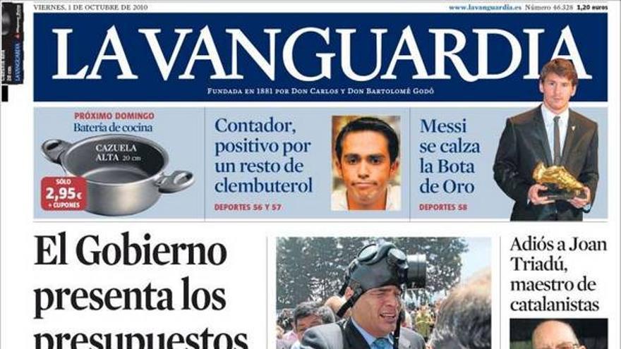 De las portadas del día (01/10/2010) #9