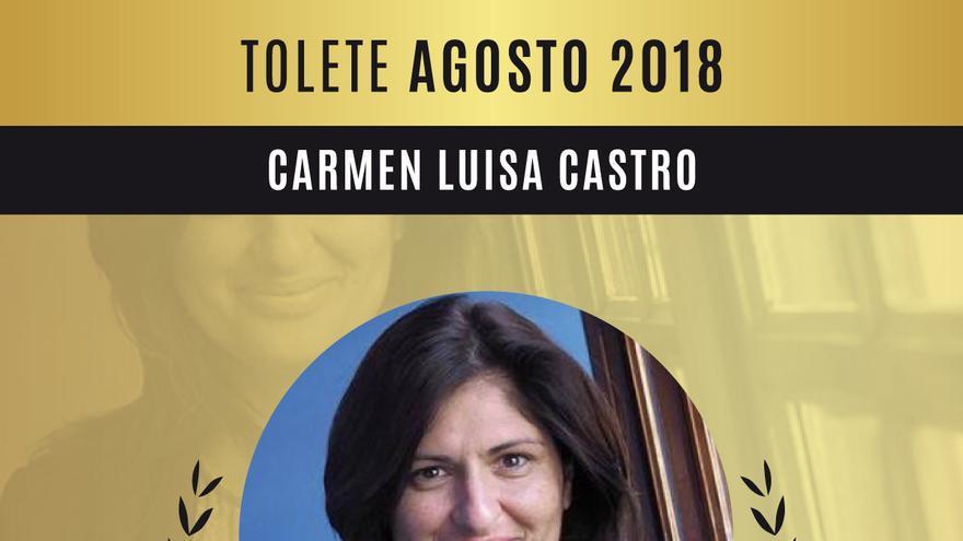 Carmen Luisa Castro, con la distinción en la web 'premiostolete.com'