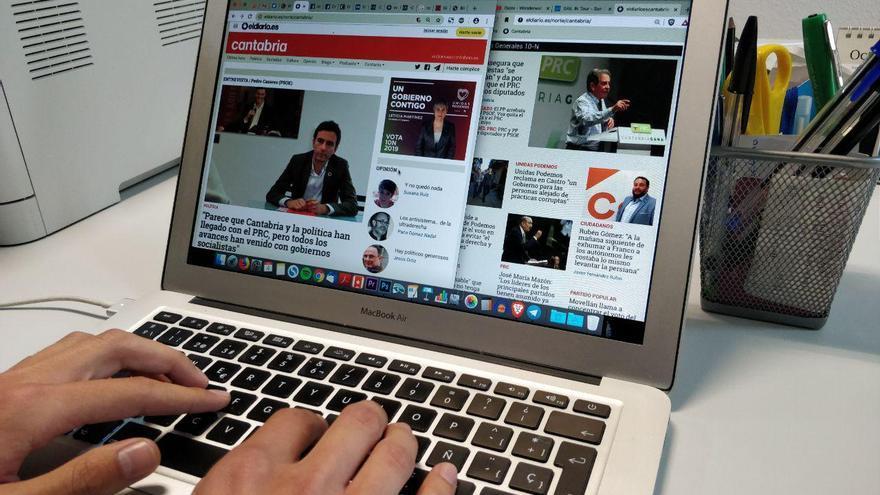 Imagen de la página eldiario.es Cantabria en un ordenador.