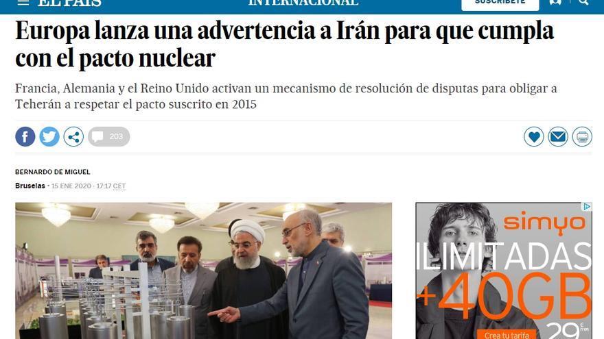 Captura de El País