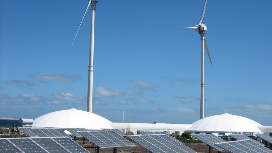 Instalación para la producción de energía limpia en Tenerife.