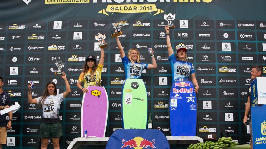 Teresa Padilla, en lo más alto del podio femenino.