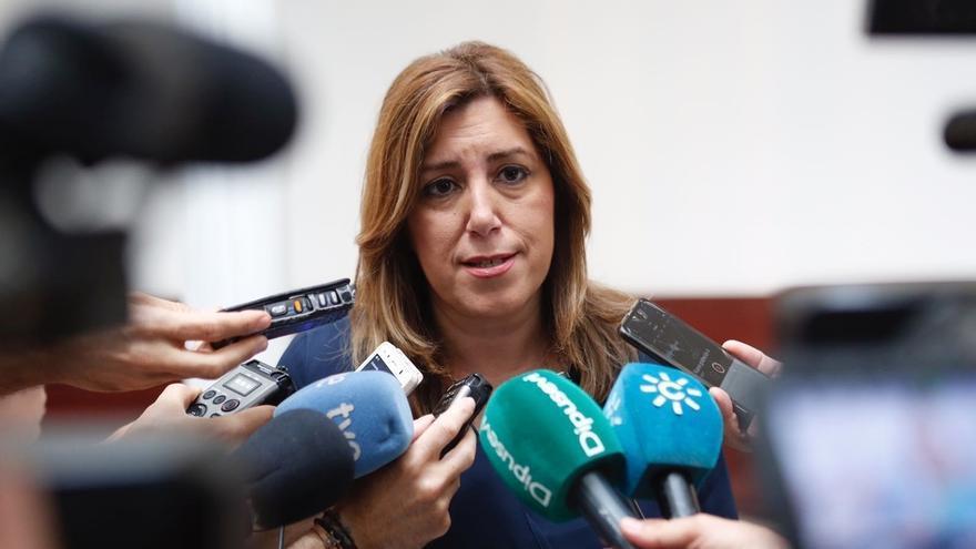 """Susana Díaz destaca el """"prestigio y reconocimiento"""" de Diego Valderas para convertirse en Comisionado de la Memoria"""