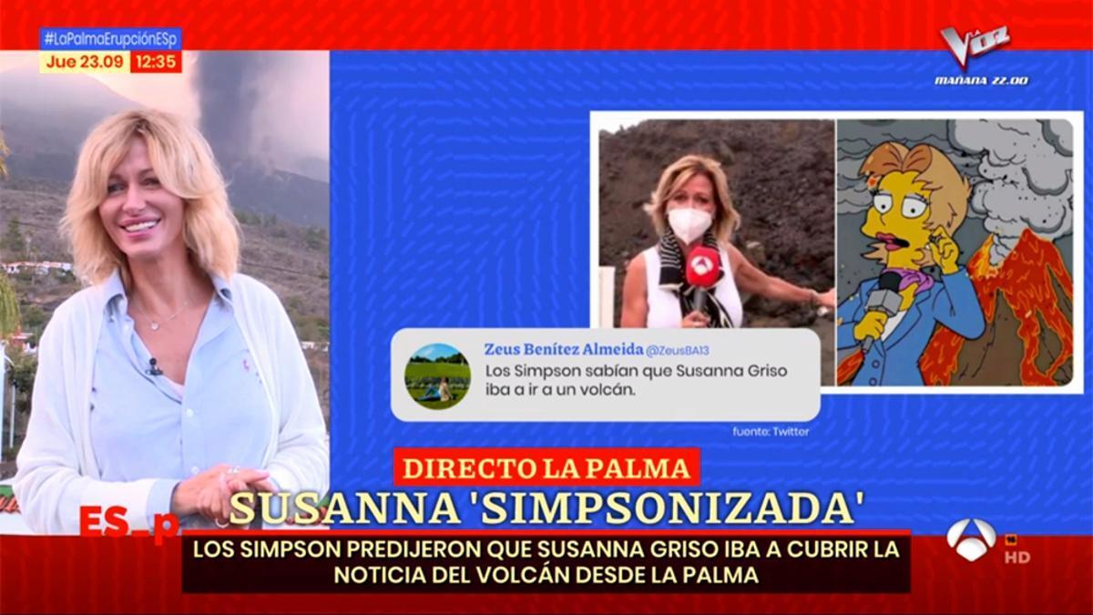 """'Espejo Público', Susanna Griso y la """"predicción"""" de 'Los Simpson'"""