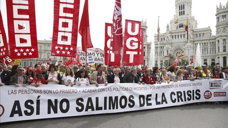 Las elecciones municipales y el elevado desempleo marcan el Primero Mayo en España