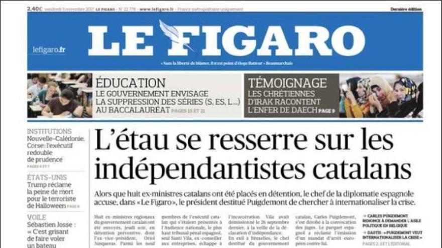 Portada de Le Figaro.