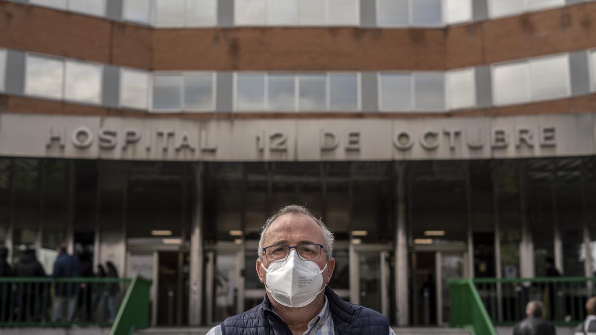 Daniel Fernández estuvo un mes ingresado en la UCI del Hospital 12 de Octubre durante la segunda ola de la pandemia.